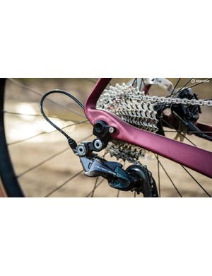 The Dura-Ace brakes give you the confidence to push the HVRT to its limits
