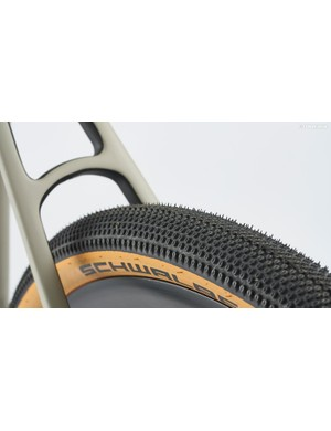 Schwalbe's G-One All-Round tyres with their closely-spaced round tread blocks