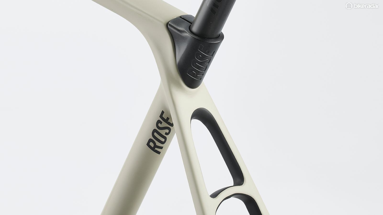 Rose claims the tapered seatstays will take 42mm tyres