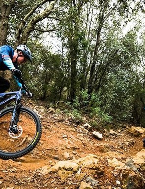 Santa Cruz spec'd a great pair of tyres, so there's plenty of grip to play with