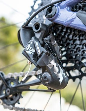 SRAM's NX Eagle misses out on the 10t sprocket, but still bangs through the gears well