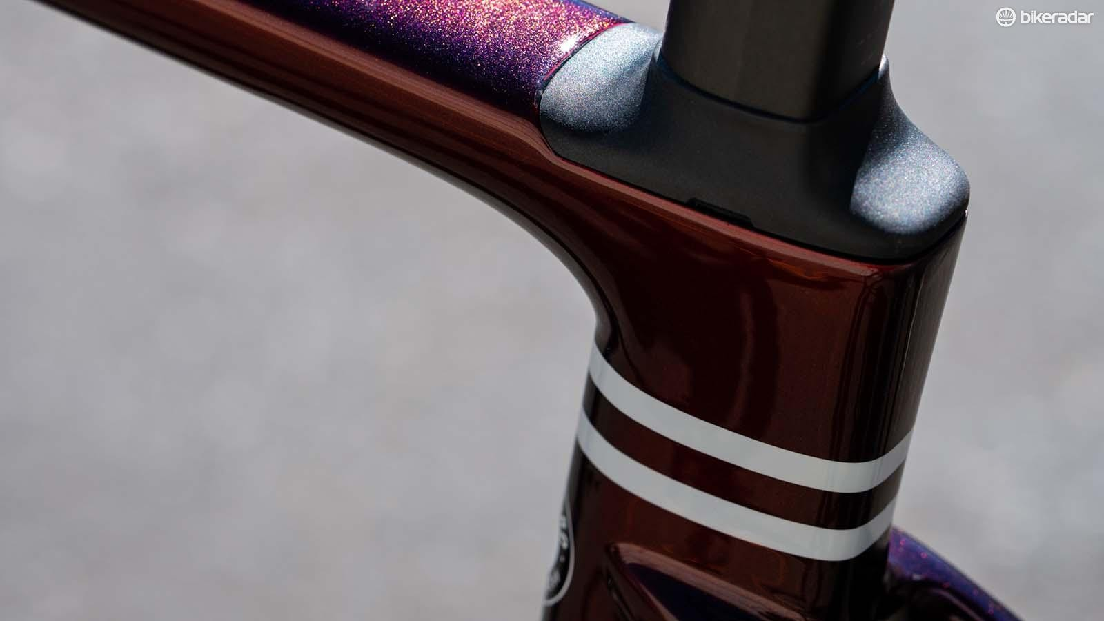 The S-Works Pavé seatpost flexes and moves for extra shock absorption