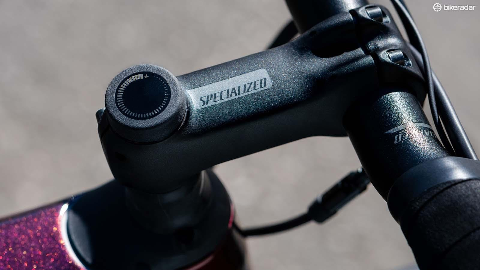You can tune the cushioning of the Roubaix Pro's Future Shock 2.0 using a stem top adjuster