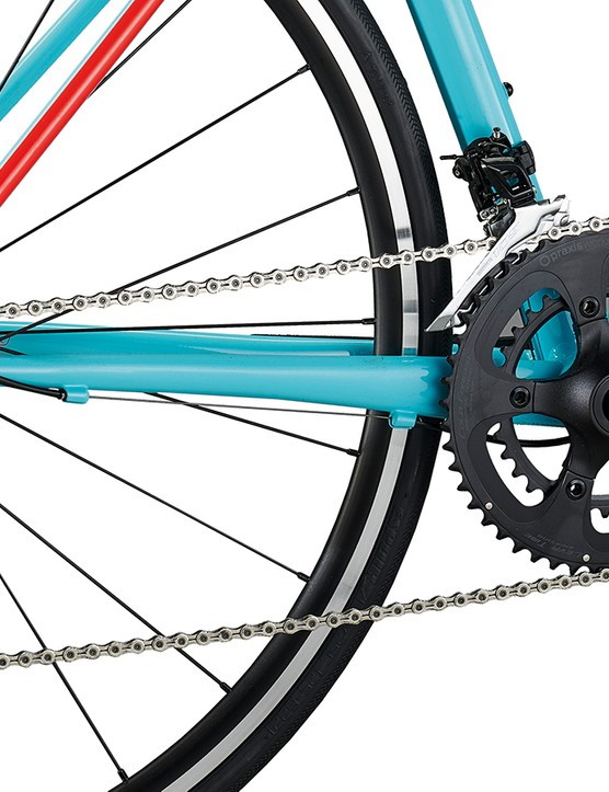 Praxis's Alba chainset and Shimano 105 gears