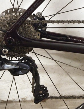 An 11-30t cassette provides a good range of gears for climbing, sprinting and all-round charging