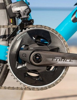 The Force chainset in both 2x and 1x has a Quarq D-Zero-based power meter option