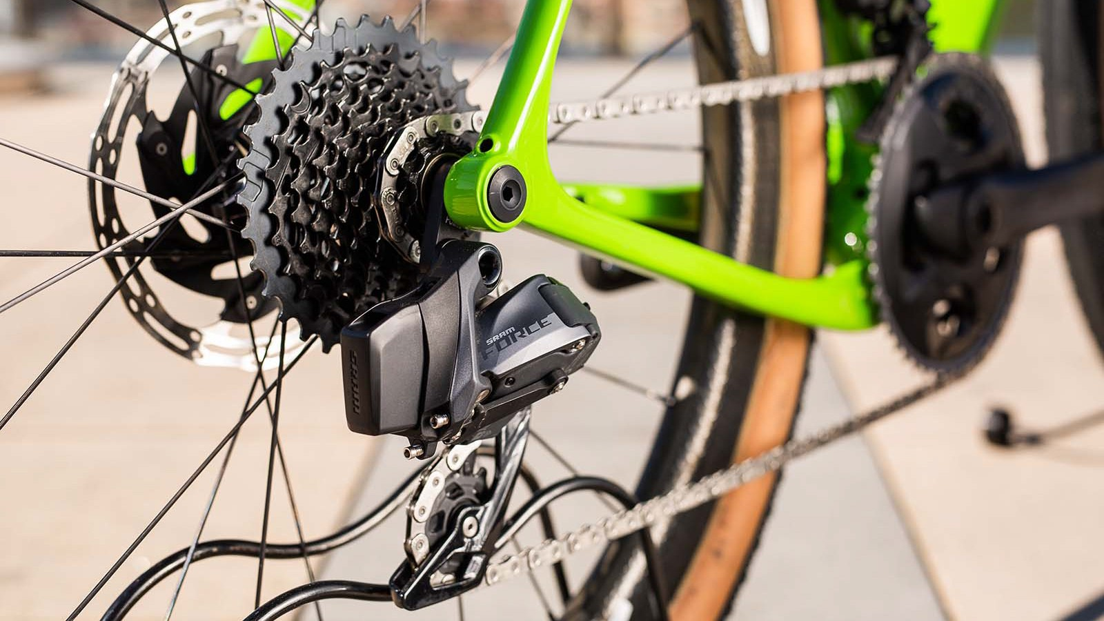 The Force eTap AXS rear mech uses the same motors and chipset as RED, and performs just as well