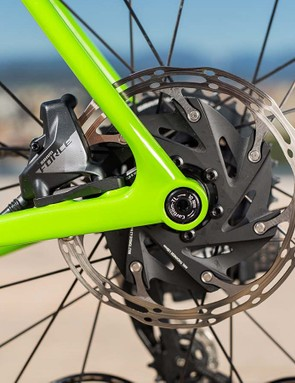 The brake rotors are SRAM's latest with rounded edges and a more road-focused design than previous iterations
