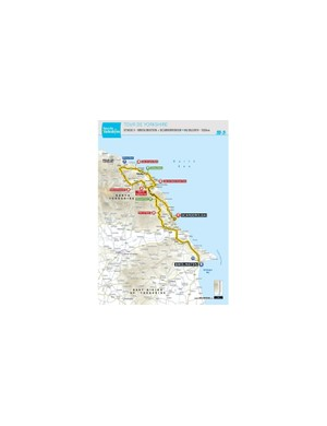 The 132km route from Bridlington to Scarborough serves as both the men's Stage 3 and the women's Stage 2