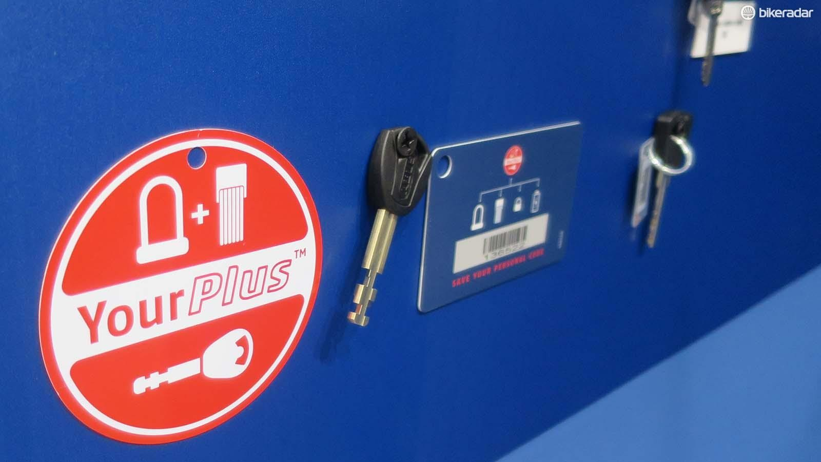 With the Your Plus system it means you can order locks (or your bike's battery lock) to share the same key