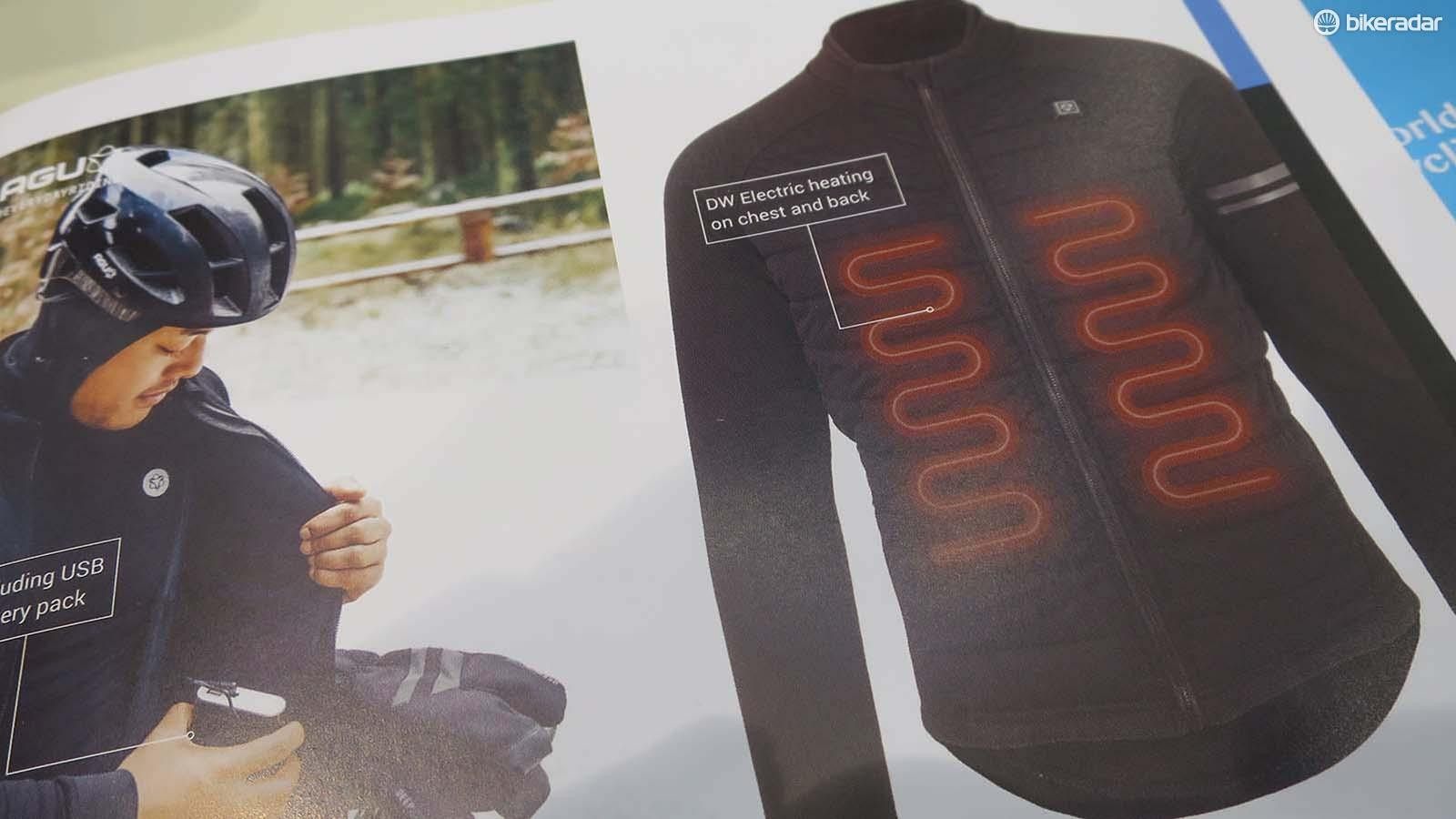 AGU's heating system runs the length of the chest and on the back too
