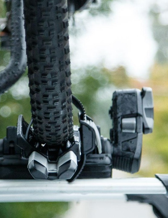 The bike is held more securely than ever before – there's very little sway to be seen