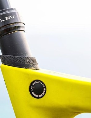 Nicely concealed, the integrated seat clamp shows attention to detail