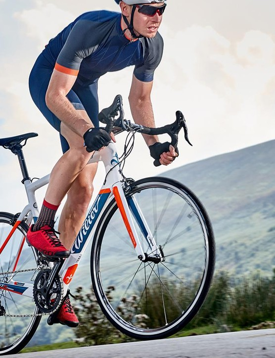 While not super speedy, the Wilier is still a nimble, nifty-handling bike