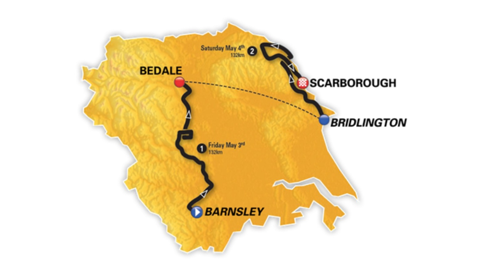The Asda Tour de Yorkshire Women's Race covers 264km and shares two stages with the men's race