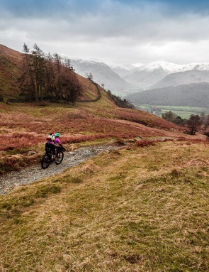 A mountain bike gives you the opportunity to explore areas you can't reach on a road or hybrid bike. How's that for a view?