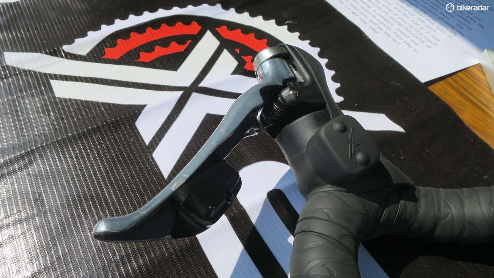 Then it's a case of simply mounting the minimal micro-pod shifter next to your standard shifter