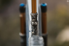 The Decoys low seat tube height and Fox's transfer dropper post mean you can get the saddle height where you need it