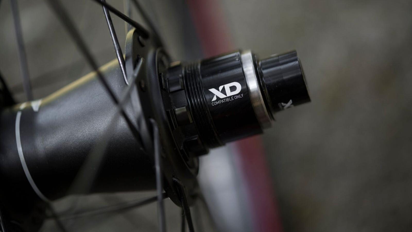 The wheels use 32 J-bend spokes on Zipp ZM1 hubs