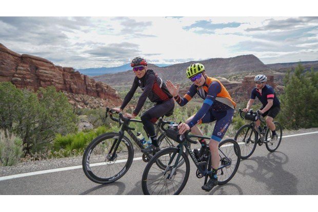 Jack Luke and Chris Case riding in Colorado National Monument