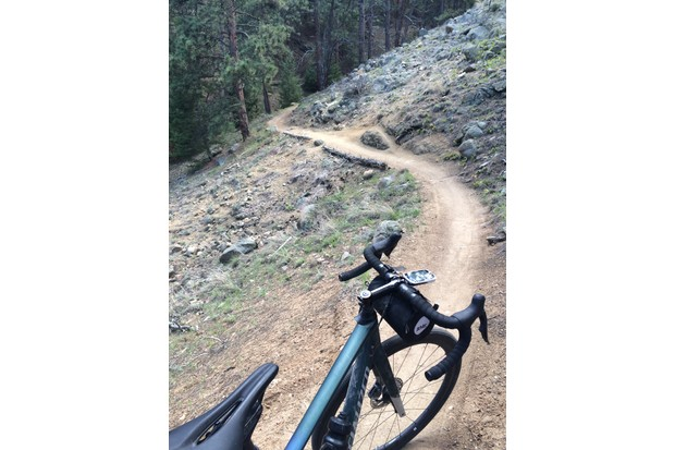 Specialized Diverge on singletrack mountain bike trails