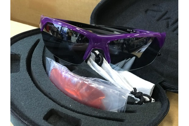 Smith cycling sunglasses in storage box with spare lens set