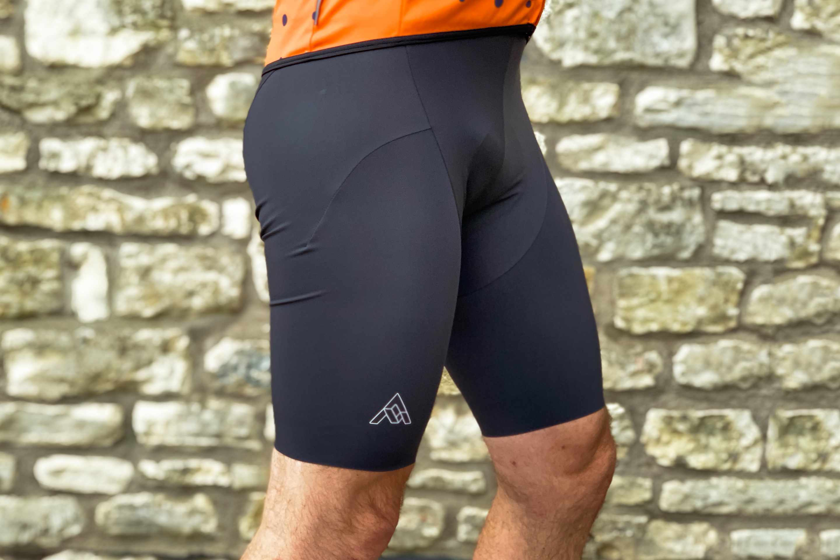 Man wears 7Mesh MK3 padded cycling short