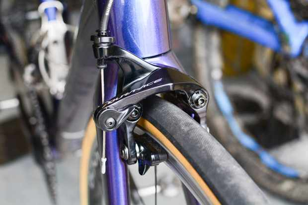 Front rim brake of road bike