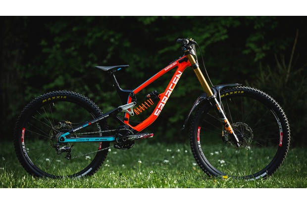 Madison Saracen team bike with 27.5-inch rear wheel and 29-inch front wheel