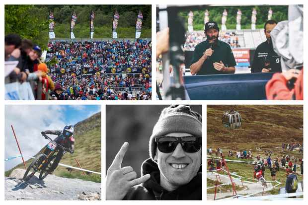 Fort William downhill World Cup collage