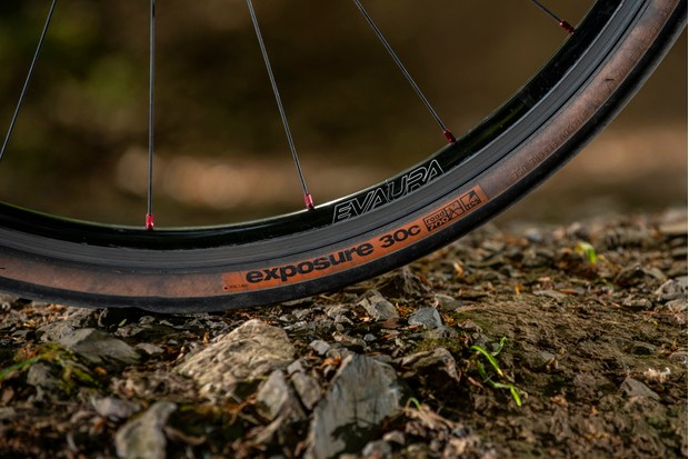 Close up image of a bicycle rim and tyre