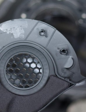 ear covers on a mountain bike helemt