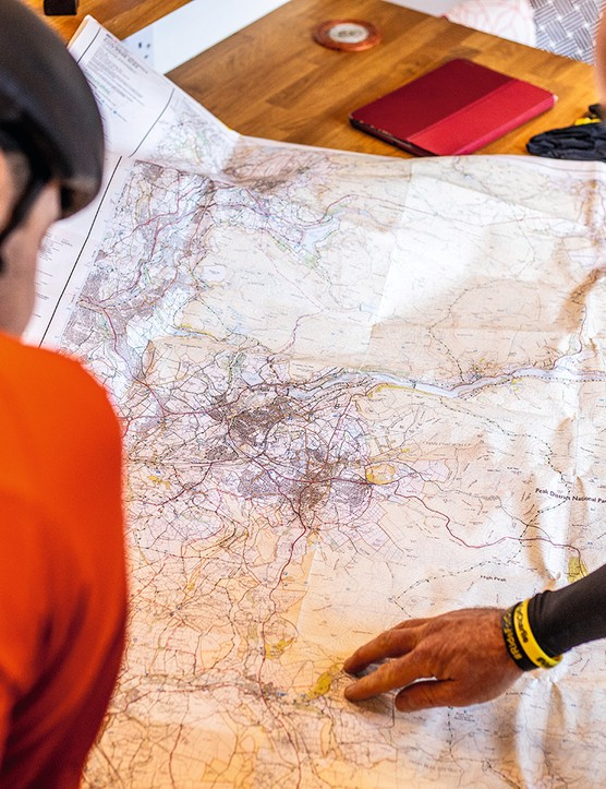 Planning gravel rides with Ordnance Survey maps