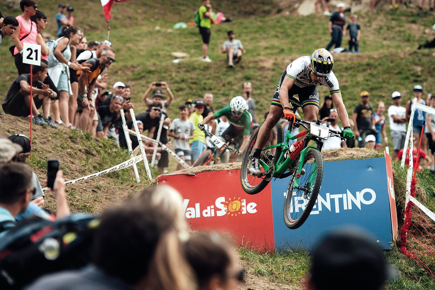 Nino Schurter UCI XCO World Cup in Val di Sole 2018