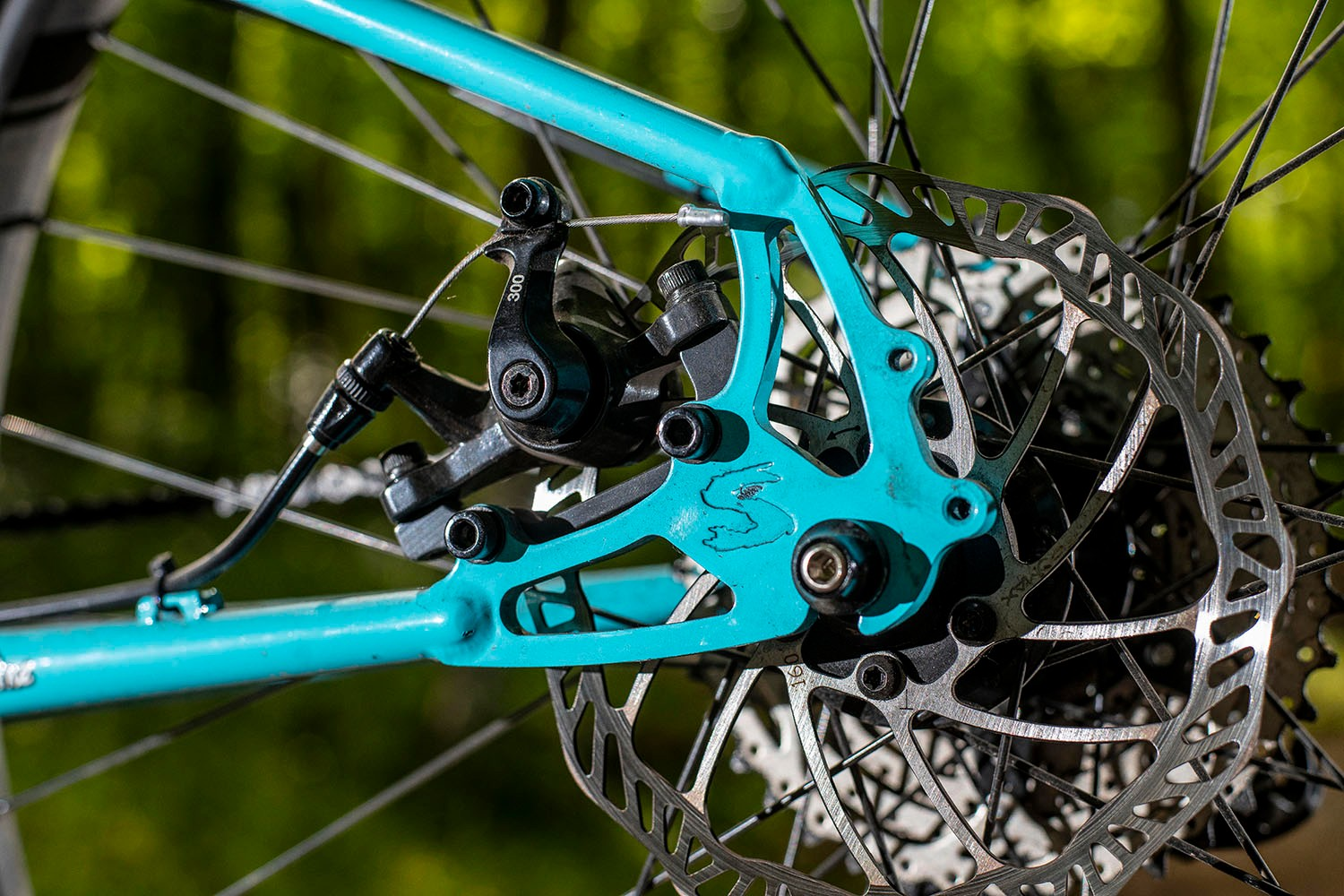 Surly Bridge Club review dropouts, disc brakes, disc rotor