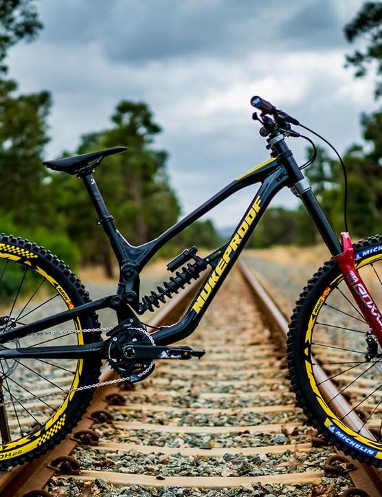 The new Nukepoof Dissent downhill bike
