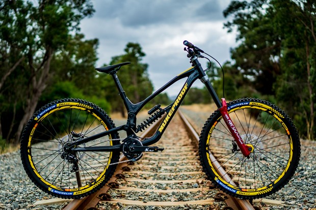 The new Nukepoof Dissent downhill bike