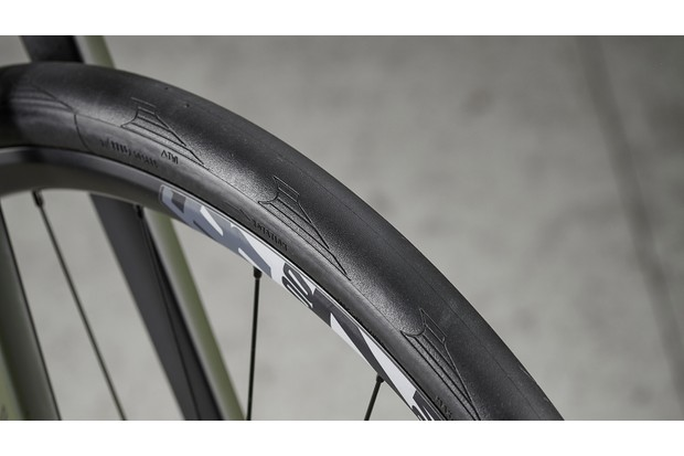 Continental tyre on road bike