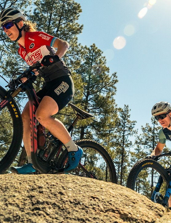 Pivot Mach 4 SL 2019 XC ridden by cross-country cyclists