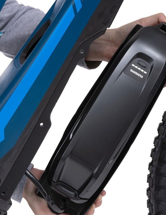 Pivot electric mountain bike Shimano battery