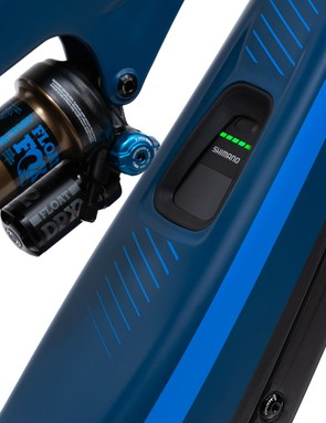 Pivot electric mountain bike suspension and battery indicator