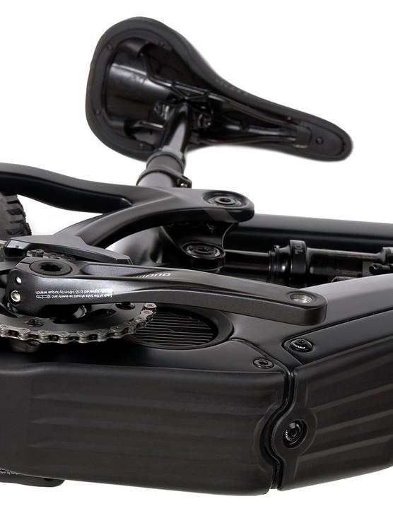 Pivot electric mountain bike carbon battery mount