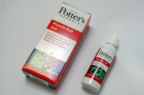 Potters Herbals muscle rub gel and comfrey oil