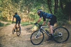 Scott Sports gravel riding through forest