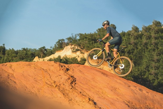 Scott Sports gravel riding uphill