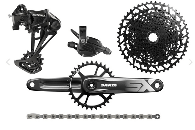 A picture of a SRAM SX Eagle groupset