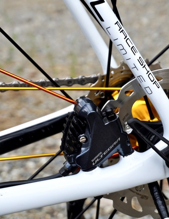rotor brake from groupset for road bike