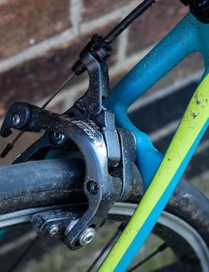 Shimano Ultegra rim brakes blue bike