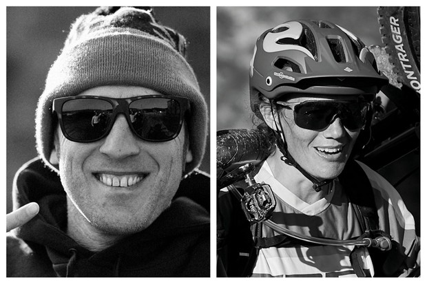 A collage photo of Steve Peat and Tracy Moseley