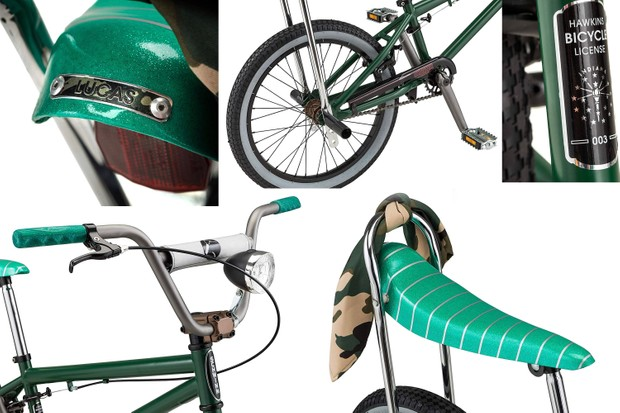 Stranger Things-inspired BMX, details of Lucas's replica bike